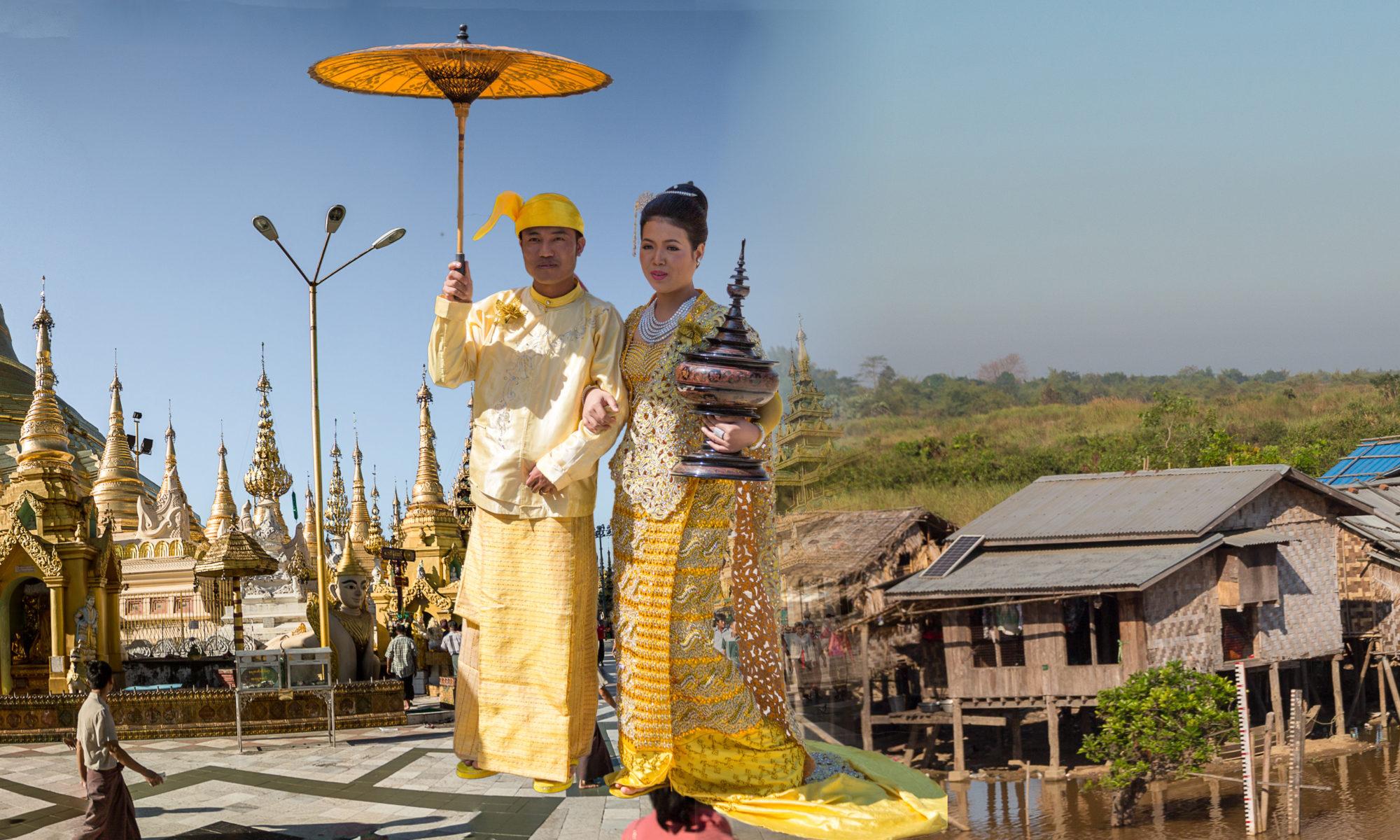 das goldene Paar in Myanmar