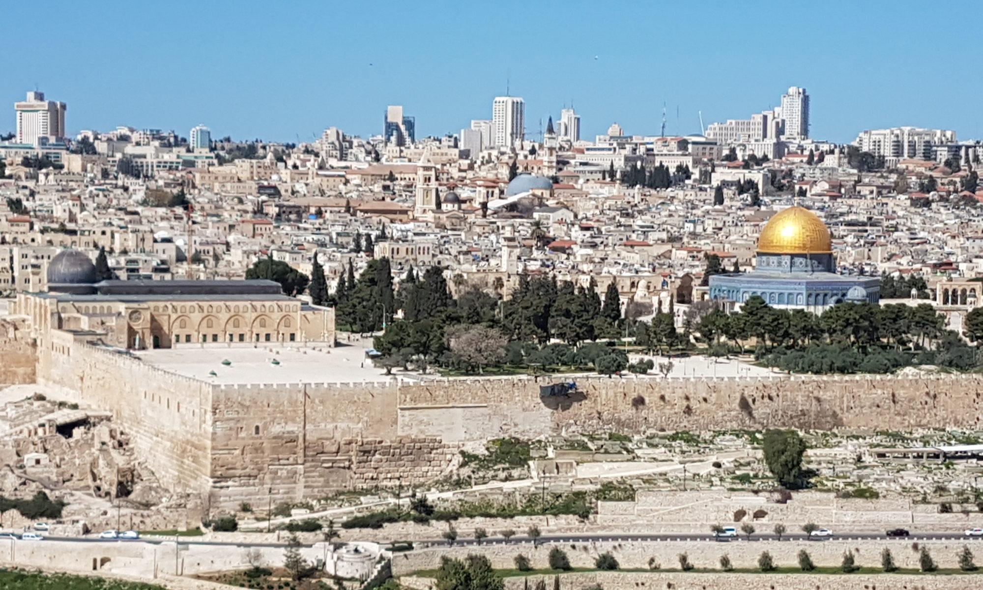 Israel 2018 Blick über Jerusalem