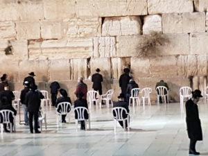 Israel 2018 Nachts an der Klagemauer in Jerusalem