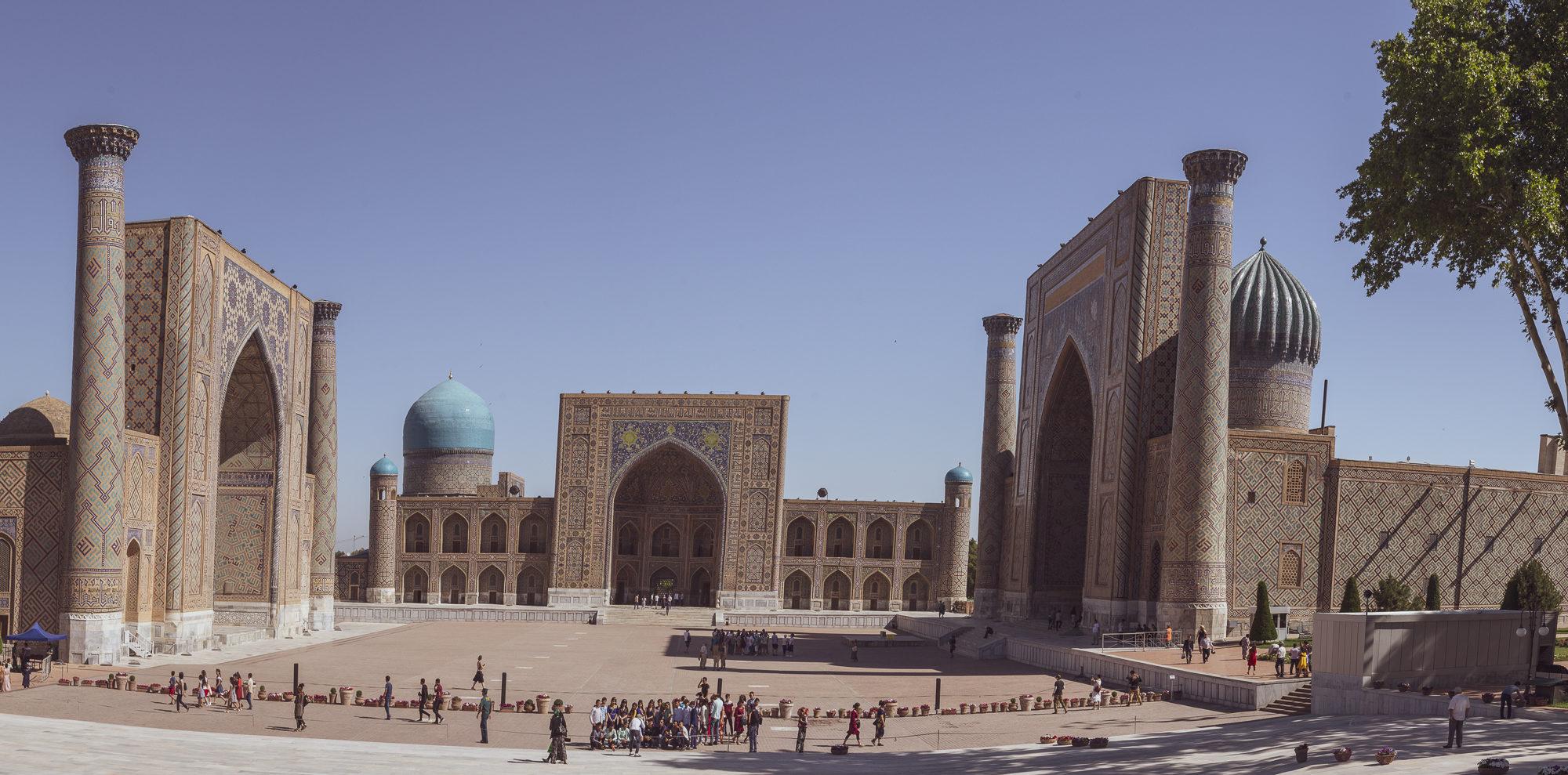 Samarkand Der Registan Platz