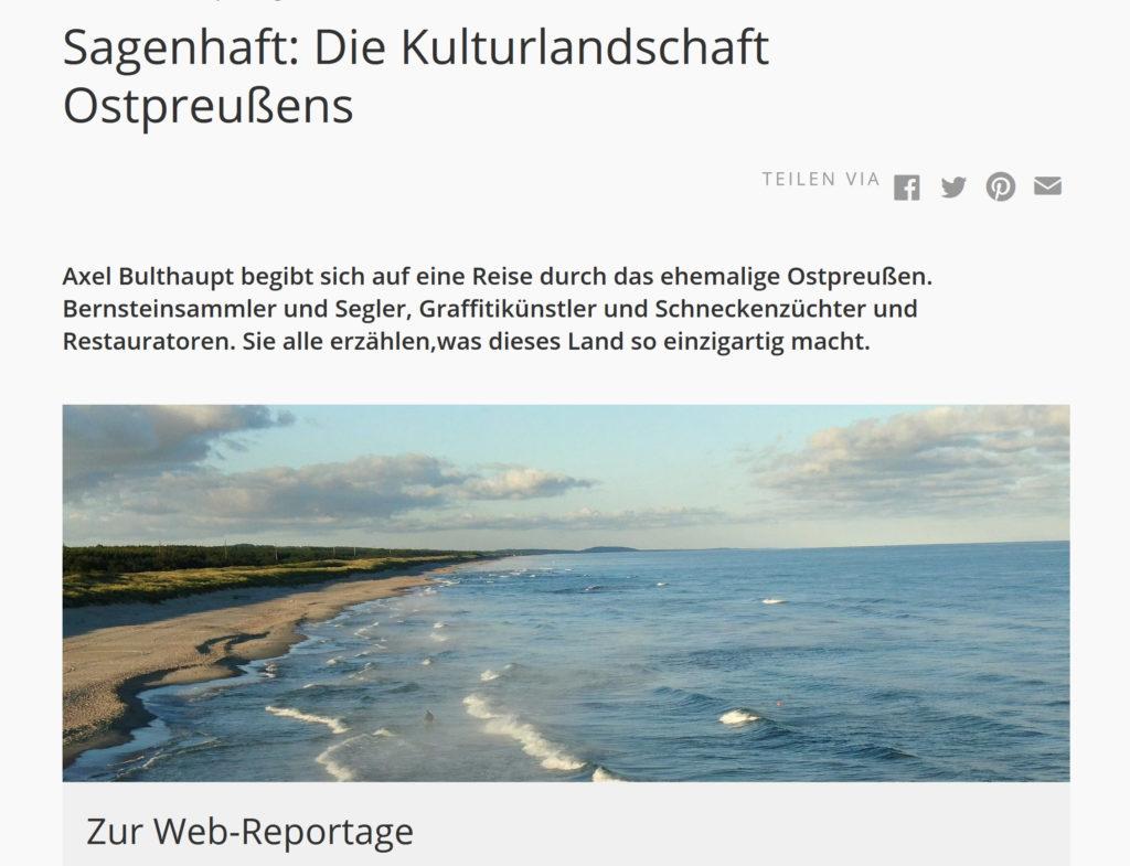 Sagenhaft: Die Kulturlandschaft Ostpreußens
